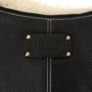 KATE SPADE LARGE PEBBLED NAVY HOBO BAG